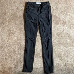 RSQ high rise black distressed jeans